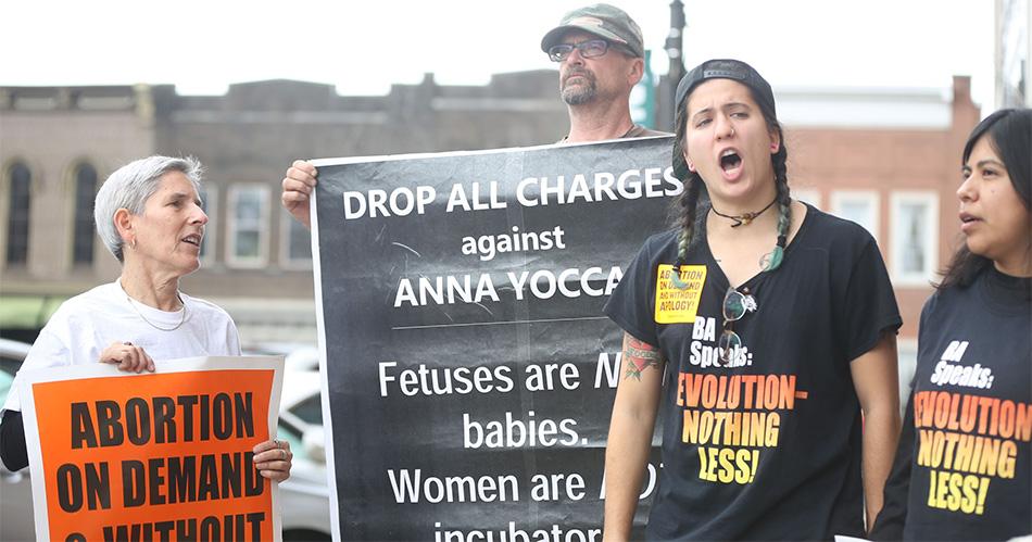 Anna Yocca protesters