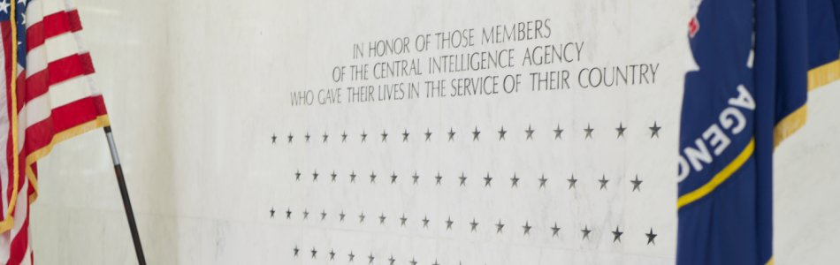 The CIA Memorial Wall