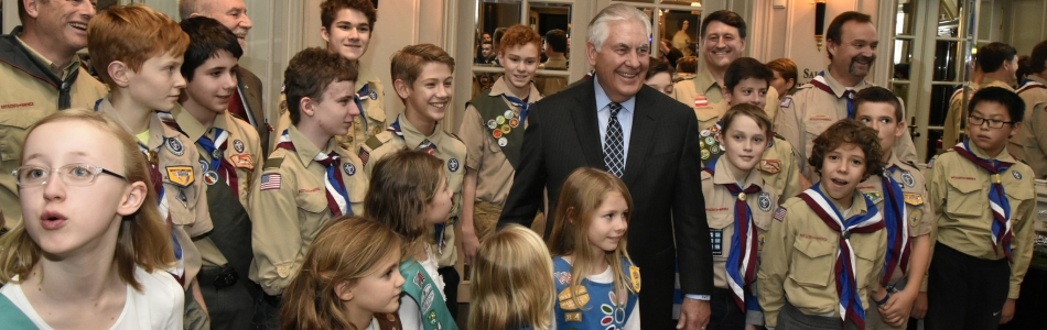 Secretary Tillerson, Girl Scouts, and Boy Scouts