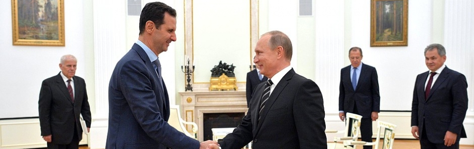 Vladimir Putin with Bashar Assad