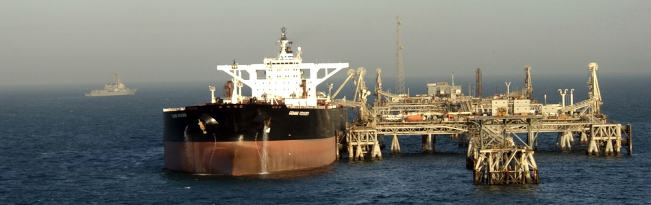 Super Tanker Takes On Crude Oil At ABOT