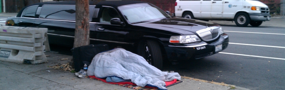 Homeless Man Sleeping In Mission District